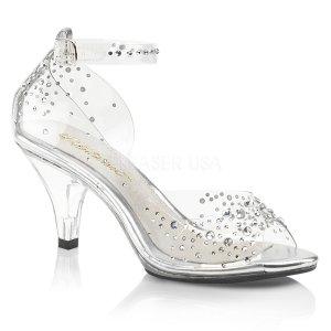 dámské průhledné sandálky s kamínky Belle-330rs-c