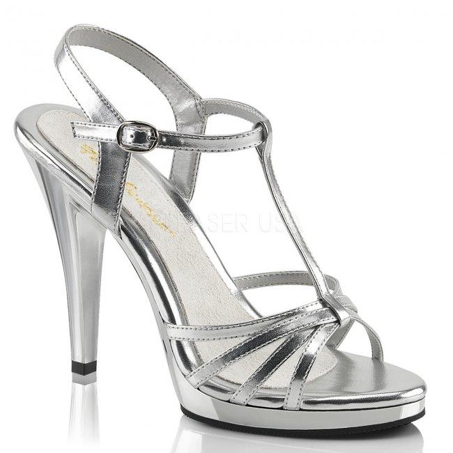 stříbrné dámské páskové sandálky Flair-420-smpuc - Velikost 40