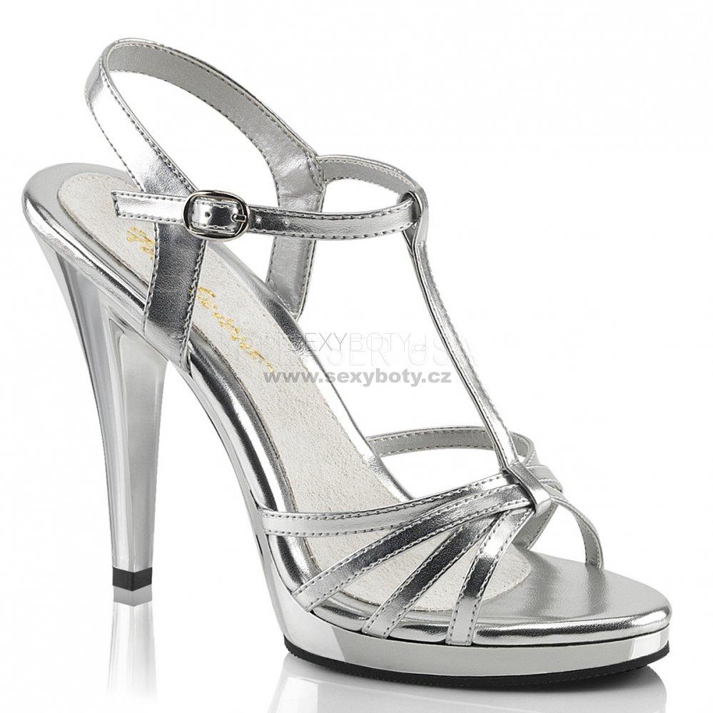 7aec512e00e stříbrné dámské páskové sandálky Flair-420-smpuc - Velikost 41 ...