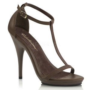 hnědé dámské sandálky Poise-526-bnpu