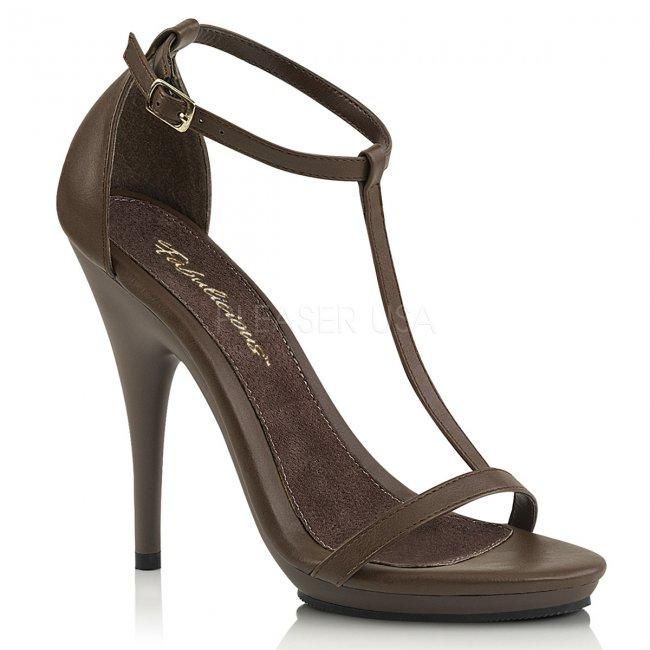 hnědé dámské sandálky Poise-526-bnpu - Velikost 41