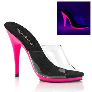 růžové dámské boty s UV efektem Poise-501uv-cnhp