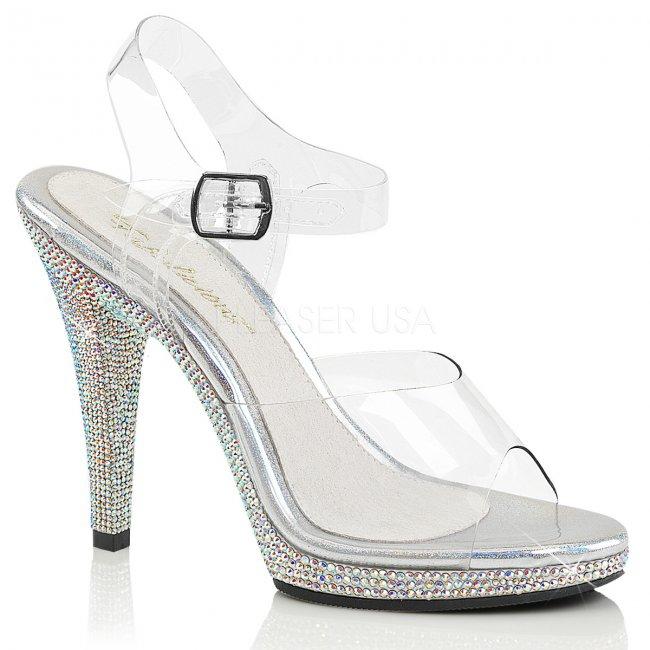 luxusní dámské páskové sandálky Flair-408dm-csmcrs - Velikost 46