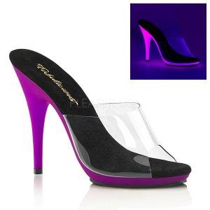 fialové dámské pantofle s UV efektem Poise-501uv-cnpp
