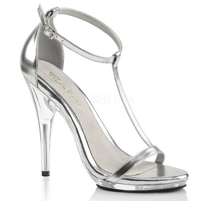 stříbrné dámské sandálky Poise-526-smpu - Velikost 38