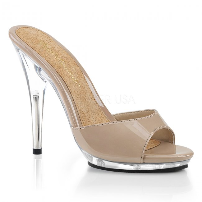 dámské béžové pantofle Poise-501-ndc - Velikost 37