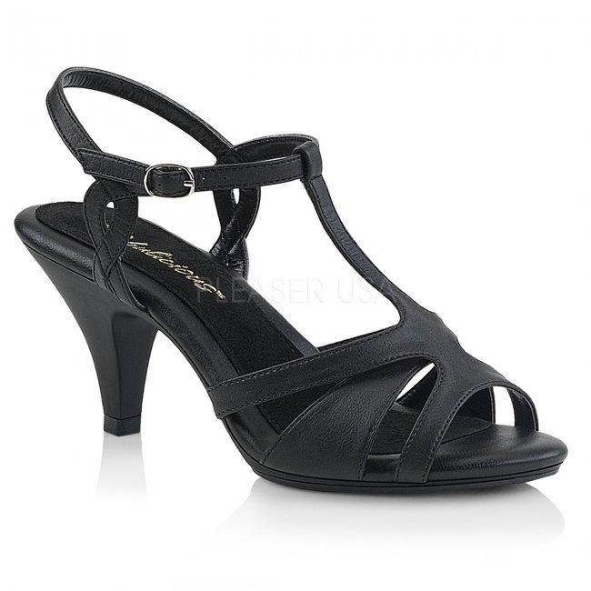 dámské černé páskové sandálky Belle-322-bpu - Velikost 35