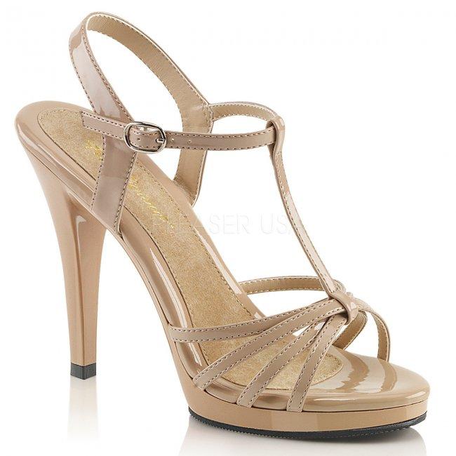dámské béžové sandálky Flair-420-nd - Velikost 46