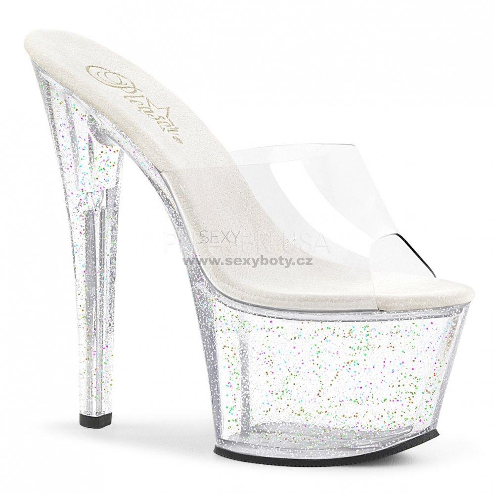 vysoké dámské pantofle s glitry Sky-301mg-c - Velikost 39   SEXYBOTY.cz 9a2e67070b