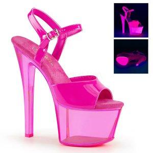 vysoké růžové dámské UV sandály na platformě Sky-309uvt-nhp