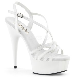 bílé páskové sandálky na platformě Delight-613-w