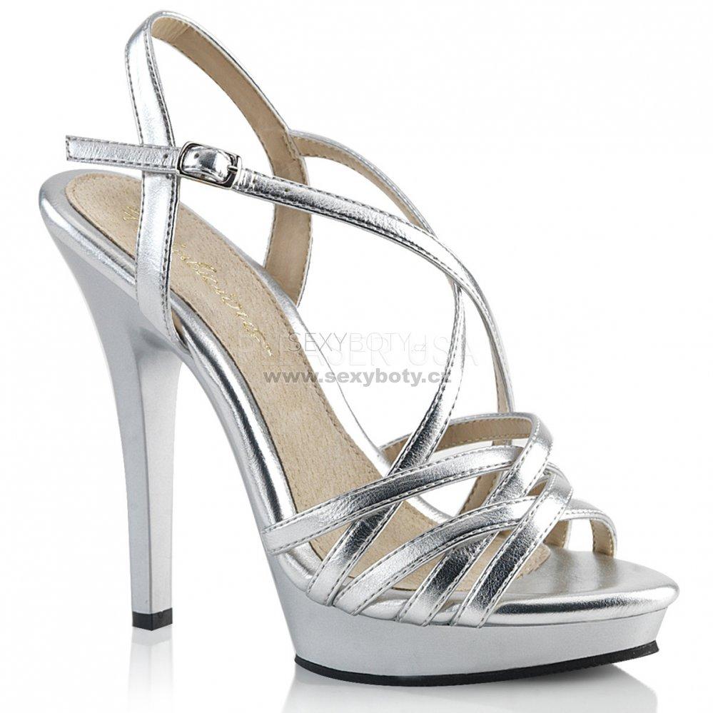 dámské stříbrné páskové boty Lip-113-smpu - Velikost 35   SEXYBOTY.cz 39433b9645