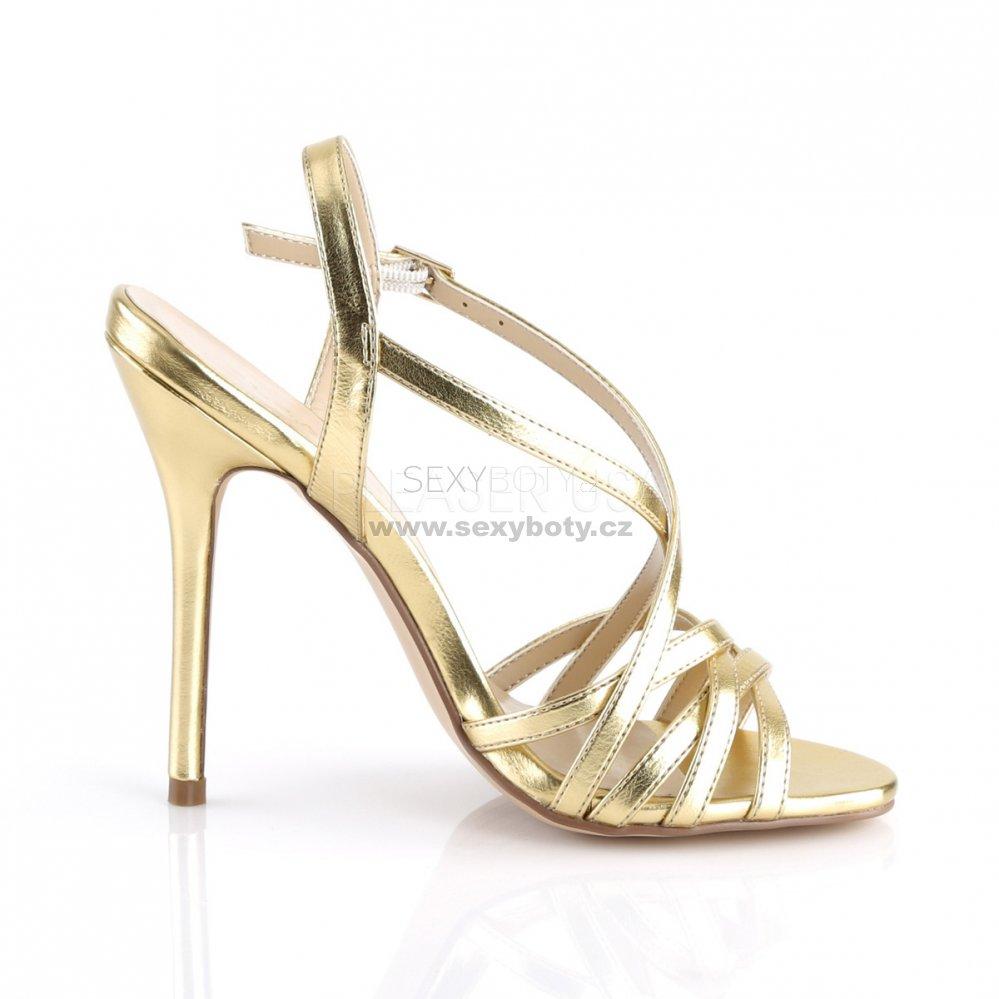 215e28debb4 zlaté dámské společenské sandálky Amuse-13-gmpu - Velikost 39 ...