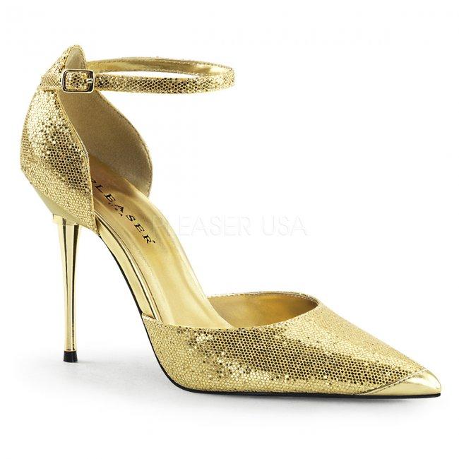 zlaté dámské lodičky s glitry Appeal-21-ggwv - Velikost 40