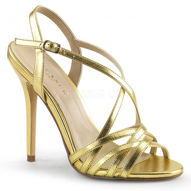 zlaté dámské společenské sandálky Amuse-13-gmpu - Velikost 38