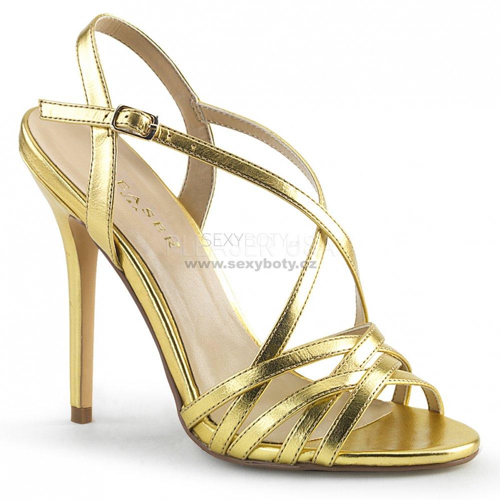 e8a1c6f92b15 zlaté dámské společenské sandálky Amuse-13-gmpu - Velikost 36 ...
