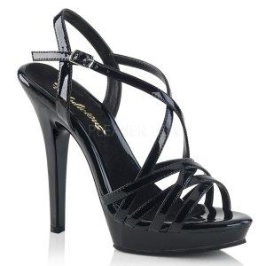černé dámské páskové boty Lip-113-b