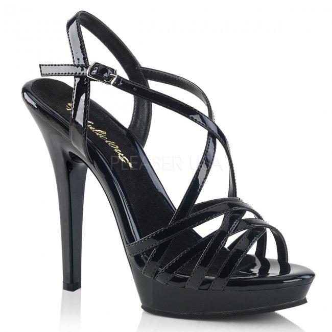 černé dámské páskové boty Lip-113-b - Velikost 38
