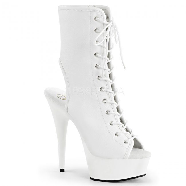 bílé dámské kotníkové kozačky Delight-1016-wpu - Velikost 35