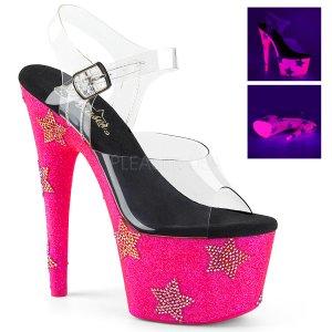 dámské sandálky s UV efektem na platformě Adore-708star-cnhpgrs