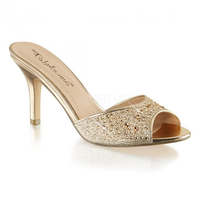 zlaté dámské pantoflíčky Lucy-01-ggfa - Velikost 39