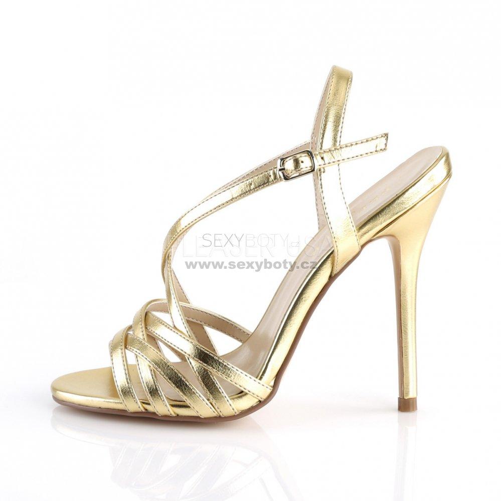 zlaté dámské společenské sandálky Amuse-13-gmpu - Velikost 36 ... 400c9e3237