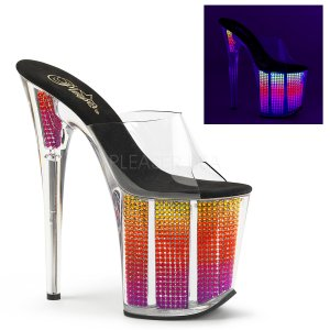 extra vysoké nazouvací UV pantofle s kamínky Flamingo-801srs-cnmc