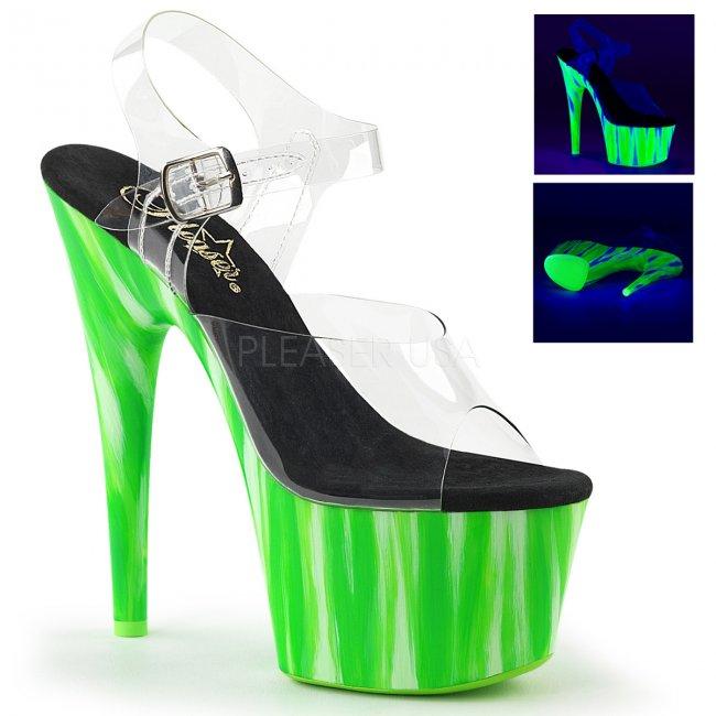 dámské zelené UV sandálky na platformě Adore-708uvp-ccdgrn - Velikost 37