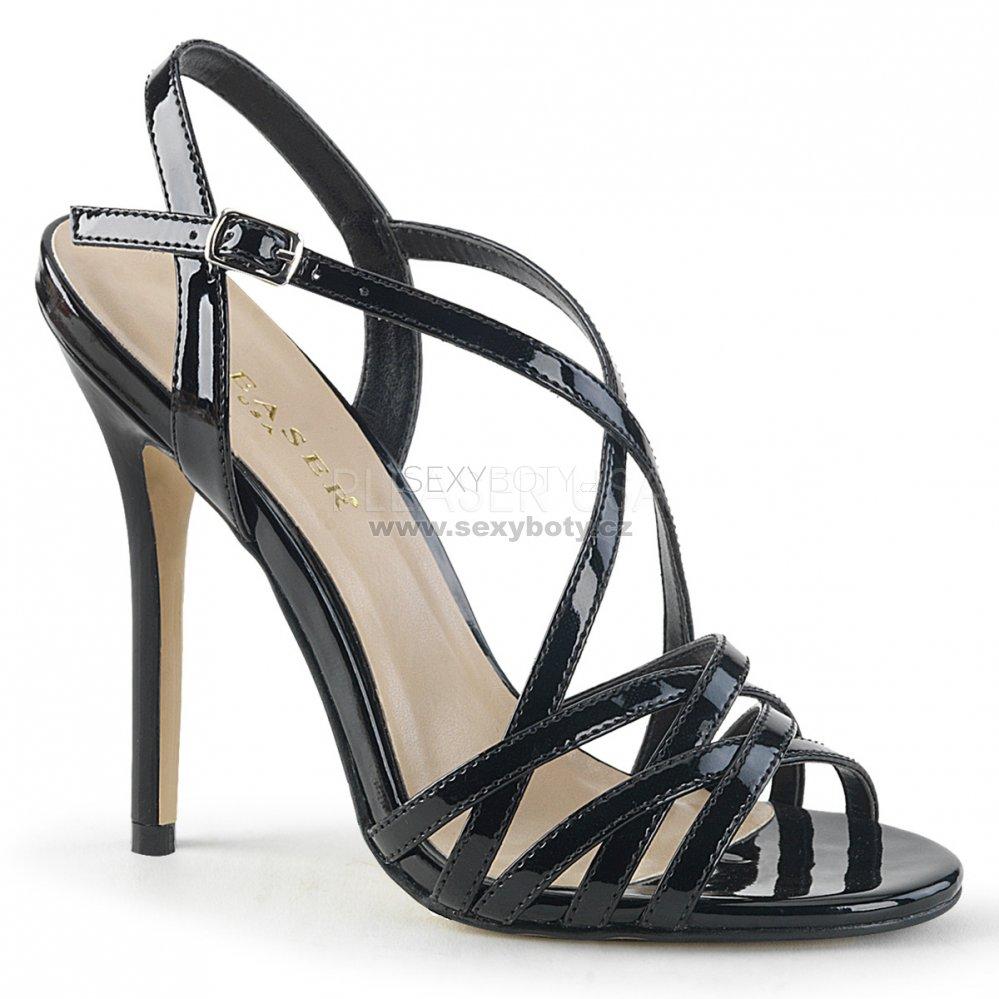 černé dámské společenské sandálky Amuse-13-b - Velikost 43   SEXYBOTY.cz 845ff90996