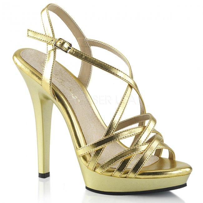 dámské zlaté páskové boty Lip-113-gmpu - Velikost 35