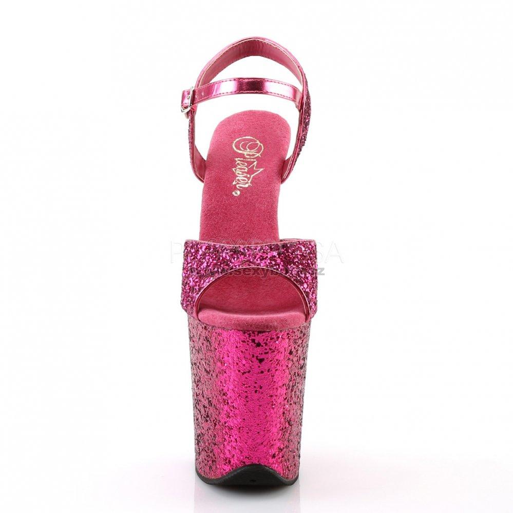 17295daed7d6 růžové sandálky na extra vysoké platformě s glitry Flamingo-810lg-hpg -  Velikost 37