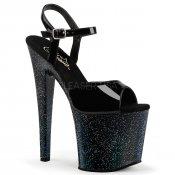 černé extra vysoké dámské sandály s glitry Taboo-709mg-b