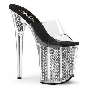 extra vysoké nazouvací pantofle s kamínky Flamingo-801srs-cb