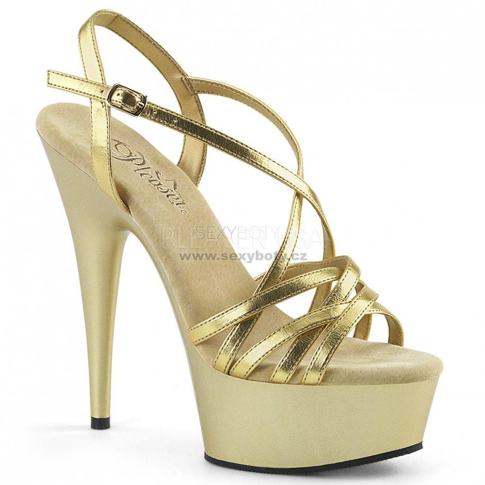 a38cadbcb2f zlaté páskové sandálky na platformě Delight-613-gmpu - Velikost 44 ...