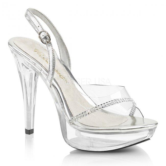 průhledné dámské sandálky Cocktail-556-c - Velikost 38