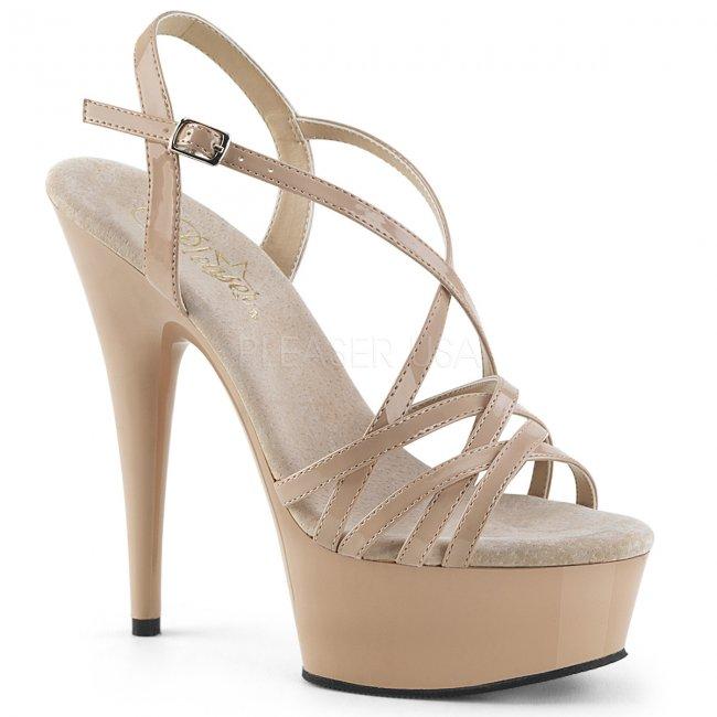 páskové sandálky na platformě Delight-613-nd - Velikost 38