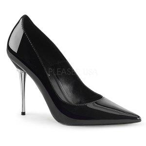 dámské černé lakované lodičky Appeal-20-b