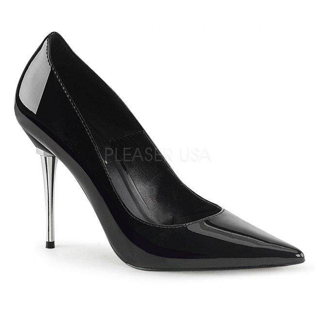 dámské černé lakované lodičky Appeal-20-b - Velikost 38