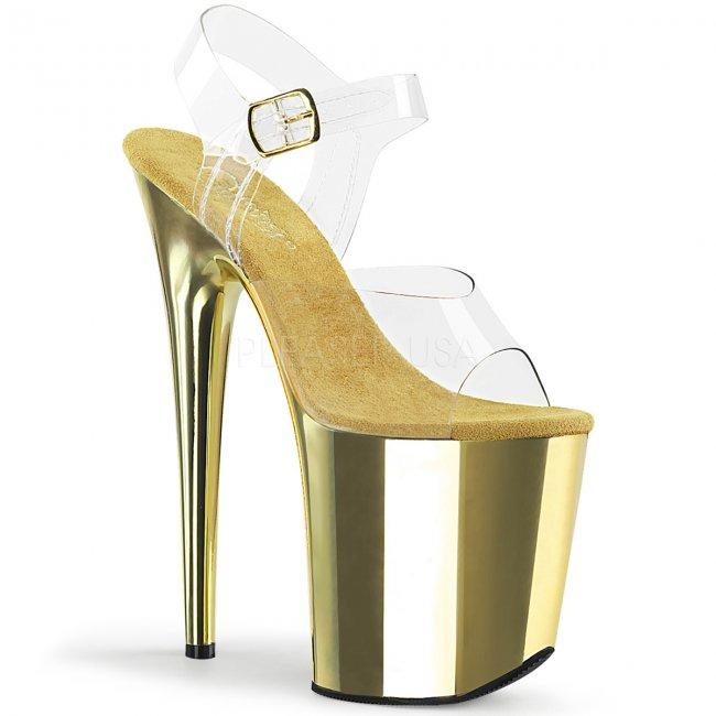 extra vysoké dámské boty na platformě Flamingo-808-cgch - Velikost 39