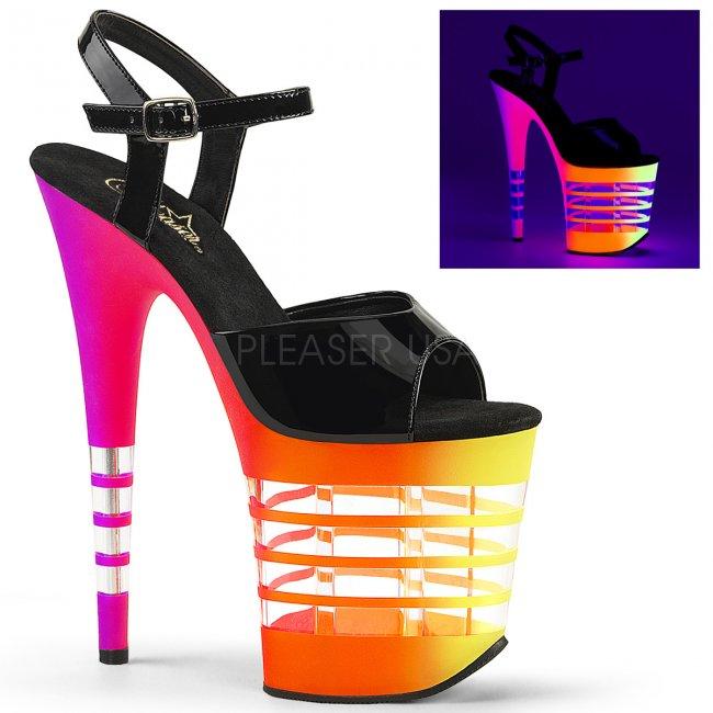 extra vysoké dámské UV sandály Flamingo-809uvln-bnuvln - Velikost 39