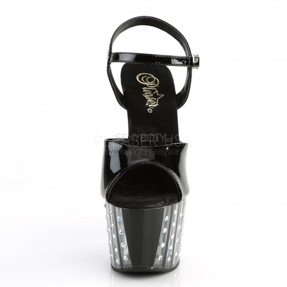 af24c1df8d69 černé dámské vysoké sandálky s kamínky Adore-709vlrs-b - Velikost 35 ...