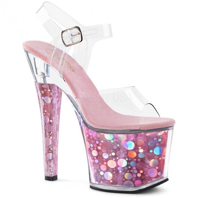 vysoké dámské sandálky s hologramy Radiant-708bhg-cbp - Velikost 40