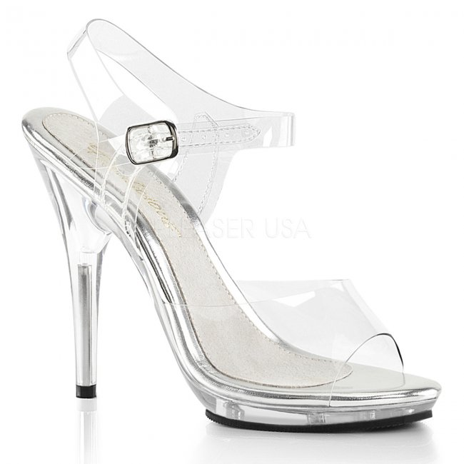 průhledné soutěžní boty na fitness Poise-508-c - Velikost 37