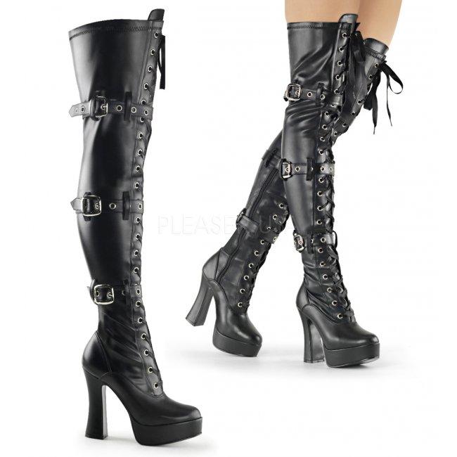 dámské vysoké kozačky nad kolena Electra-3028-bpu - Velikost 38