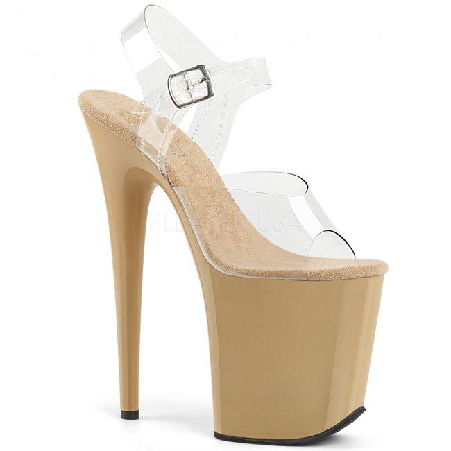 extra vysoké dámské boty na platformě Flamingo-808-ccr - Velikost 40