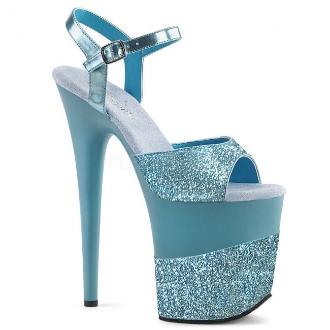 extra vysoké dámské boty s glitry Flamingo-809-2g-bug - Velikost 38