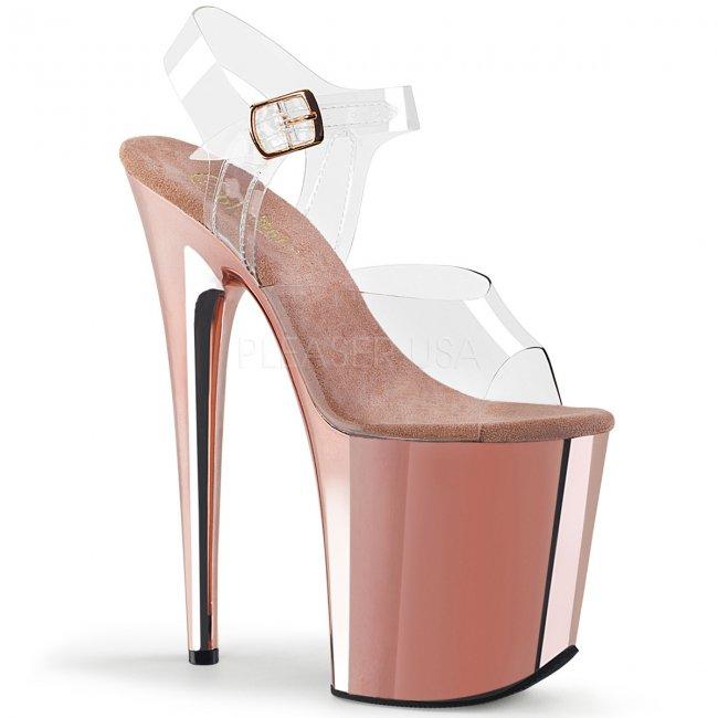 extra vysoké dámské boty na platformě Famingo-808-crogldch - Velikost 35