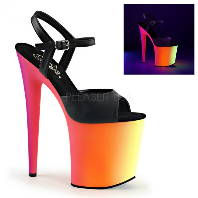 extra vysoké UV sandálky na platformě Rainbow-809uv-bpu - Velikost 40