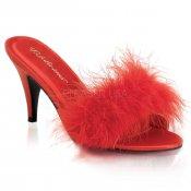 červené dámské erotické pantoflíčky Amour-03-rsat