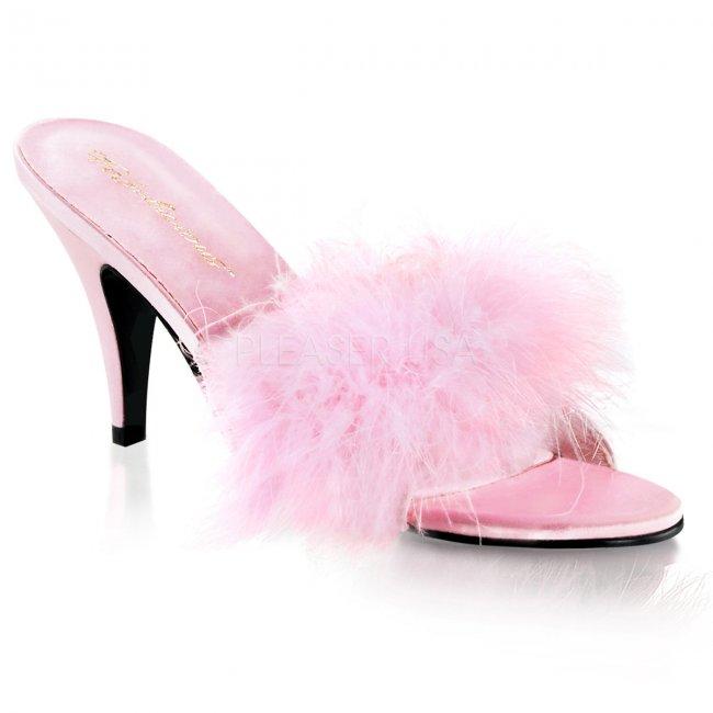 dámské růžové erotické boty Amour-03-bpsat - Velikost 43